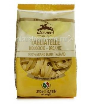 Alce Nero Макароны Tagliatelle из твердых сортов пшеницы 250 гр