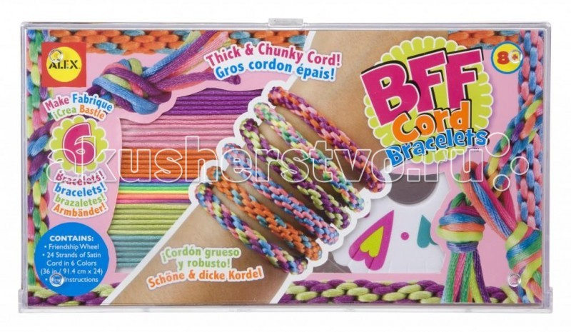 Alex Набор Плетем браслеты-фенечки из цветных шнурков