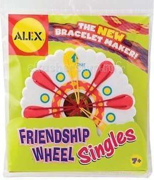 Alex Набор для плетения браслетов Дружба станок с нитками