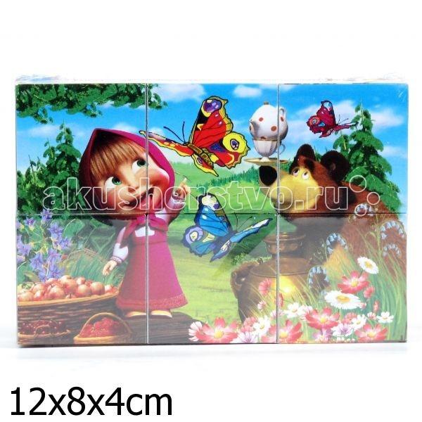 Развивающая игрушка Играем вместе Кубики Маша и Медведь 6 шт.