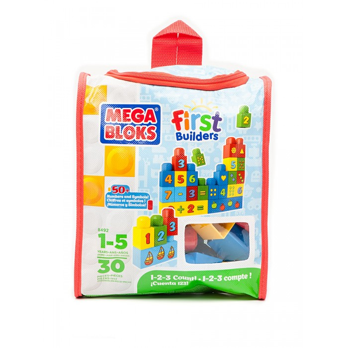 Конструктор Mega Bloks Сумка с деталями Учимся считатьСумка с деталями Учимся считатьКонструктор Mega Bloks Сумка с деталями Учимся считать - это разноцветные кубики в удобной сумке, предназначенные специально для малышей. Как и в других игрушках линейки Maxi от канадского бренда Mega Bloks, в этом конструкторе крупные кубики, с которыми можно играть уже с раннего возраста. Увлекательная игра поможет изучить основы счета, на блоках нарисованы крупные цифры и математические знаки.   Игрушку легко транспортировать в красивой сумке, изготовленной из экологически чистых материалов, безопасных как для ребенка, так и для окружающей среды.   Конструктор предназначен для детей от года.  Количество деталей: 30 штук<br>