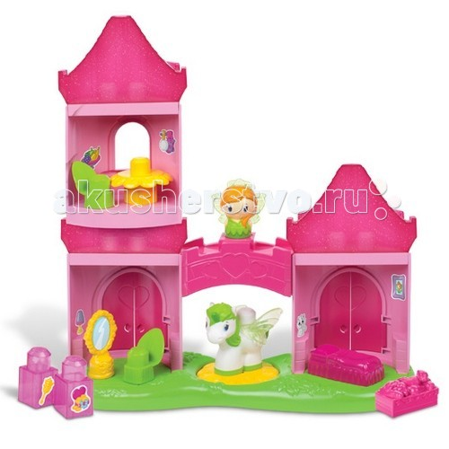 Конструктор Mega Bloks Принцессы ЗамокПринцессы ЗамокКонструктор Mega Bloks Принцессы Замок - дайте Вашей маленькой принцессе конструктор Принцессы от Mega Bloks и ее будет не оторвать от игры с ними.   Постройте волшебный замок для принцессы Иви и ее милого пони Честната. Замок можно построить 3-мя способами.   Этот конструктор обеспечит часы захватывающих и волшебных игр.<br>