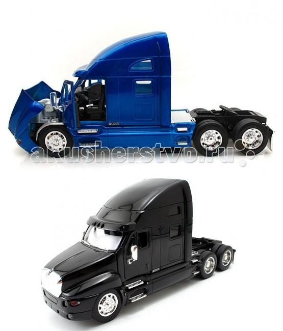 Jada Diekast Модель Kenworth T200 Tractor 1:32Diekast Модель Kenworth T200 Tractor 1:32Масштабная модель Jada Toys Diekast Kenworth T200 Tractor 1:32 - точная копия настоящего автомобиля c высокой степенью детализации, которая одинаково понравится как взрослому, так и ребенку.   Игрушка выполнена из прочного металла с пластиковыми элементами и имеет открывающиеся двери, багажник и капот. Корпус сделан литьевым способом, что обеспечит высокую прочность и долговечность в использовании автомобиля, а также максимальную схожесть с прототипом.   Машинка станет хорошей игрушкой для ребенка и отличным дополнением к любой коллекции масштабных автомоделей.  Компания Jada Toys выпускает коллекционные модели автомобилей. Обладает лицензиями на производство тюнингованных моделей машин от известных мировых марок: Mercedes-Benz, Hammer, Ford, Chevrolet, Cadillac, Nissan, BMW, Mitsubishi, Mazda, Toyota, Volkswagen, Subaru, Lamborghini. Jada Toys имеет эксклюзивную лицензию на выпуск Chevrolet Camaro во всех масштабах, премию от компании Ford за дизайн и креативность моделей.<br>