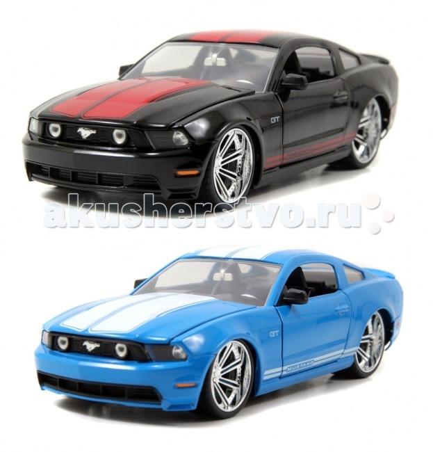 Jada Diekast Модель 2010 Ford Mustang GT-Wheel Saber 8 1:24Diekast Модель 2010 Ford Mustang GT-Wheel Saber 8 1:24Масштабная модель Jada Toys 2010 Ford Mustang GT- Wheel Saber 8 1:24 - точная копия настоящего автомобиля c высокой степенью детализации, которая одинаково понравится как взрослому, так и ребенку.  Bigtime Muscle – серия автомобилей представляющих яркое явление в американской автомобильной культуре. Muscle car, коротко говоря, это среднеразмерный, направленный на достижением максимальных скоростных характеристик автомобиль, оснащенный большим двигателем V8, продаваемый по доступной цене.   Игрушка выполнена из прочного металла с пластиковыми элементами и имеет открывающиеся двери, багажник и капот. Корпус сделан литьевым способом, что обеспечит высокую прочность и долговечность в использовании автомобиля, а также максимальную схожесть с прототипом.   Машинка станет хорошей игрушкой для ребенка и отличным дополнением к любой коллекции масштабных автомоделей.  Компания Jada Toys выпускает коллекционные модели автомобилей. Обладает лицензиями на производство тюнингованных моделей машин от известных мировых марок: Mercedes-Benz, Hammer, Ford, Chevrolet, Cadillac, Nissan, BMW, Mitsubishi, Mazda, Toyota, Volkswagen, Subaru, Lamborghini. Jada Toys имеет эксклюзивную лицензию на выпуск Chevrolet Camaro во всех масштабах, премию от компании Ford за дизайн и креативность моделей.<br>