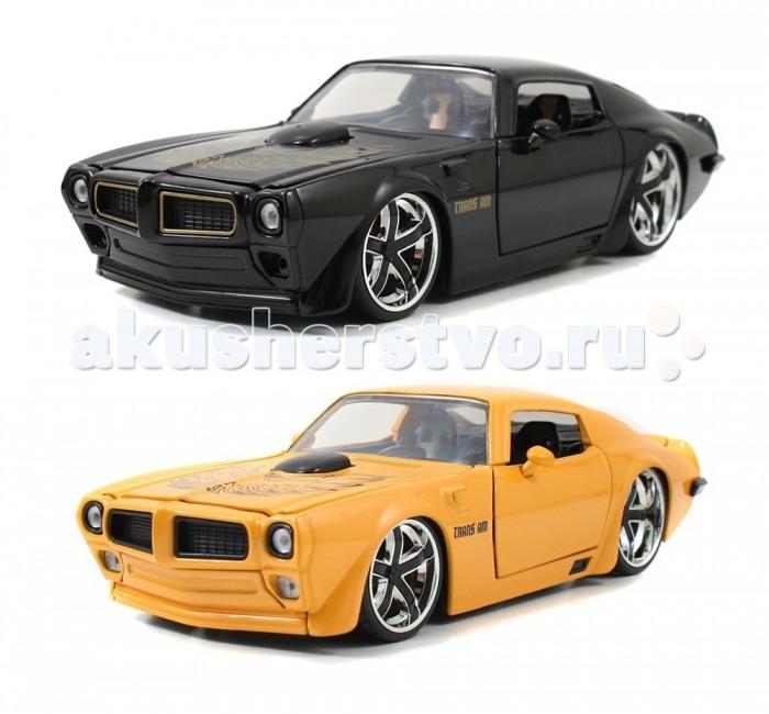 Jada Diekast Модель 1972 Pontiac Firebird - Ribo 5 1:24Diekast Модель 1972 Pontiac Firebird - Ribo 5 1:24Масштабная модель Jada Toys 1972 Pontiac Firebird - Ribo 5 1:24 - точная копия настоящего автомобиля c высокой степенью детализации, которая одинаково понравится как взрослому, так и ребенку.  Bigtime Muscle – серия автомобилей представляющих яркое явление в американской автомобильной культуре. Muscle car, коротко говоря, это среднеразмерный, направленный на достижением максимальных скоростных характеристик автомобиль, оснащенный большим двигателем V8, продаваемый по доступной цене.   Игрушка выполнена из прочного металла с пластиковыми элементами и имеет открывающиеся двери, багажник и капот. Корпус сделан литьевым способом, что обеспечит высокую прочность и долговечность в использовании автомобиля, а также максимальную схожесть с прототипом.   Машинка станет хорошей игрушкой для ребенка и отличным дополнением к любой коллекции масштабных автомоделей.  Компания Jada Toys выпускает коллекционные модели автомобилей. Обладает лицензиями на производство тюнингованных моделей машин от известных мировых марок: Mercedes-Benz, Hammer, Ford, Chevrolet, Cadillac, Nissan, BMW, Mitsubishi, Mazda, Toyota, Volkswagen, Subaru, Lamborghini. Jada Toys имеет эксклюзивную лицензию на выпуск Chevrolet Camaro во всех масштабах, премию от компании Ford за дизайн и креативность моделей.<br>