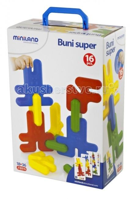Конструктор Miniland Buni Super Кролики 16 элементовBuni Super Кролики 16 элементовКонструктор открывает новые концепции в построении разнообразных фигур из 16 забавных гибких и округлых деталей, в четырех основных цветах. Из фигурок можно собрать человечков, животных, деревья. Разноцветные элементы в виде кроликов превращают игру в познавательное занятие для развития логики и моторики пальчиков, а также в изучении форм и цветов.   Комплектация: 16 деталей, коробка для деталей, примеры конструкций, дидактическое руководство.  Развивает пространственное воображение.   Вся продукция Miniland выполнена из качественных, безопасных материалов, которые проходят строгий контроль соответствия действующим нормам безопасности.<br>