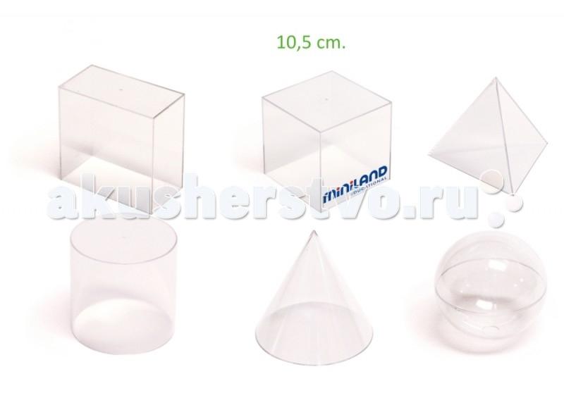 Miniland Набор геометрических тел 6 штНабор геометрических тел 6 штНабор из 6 геометрических тел, с помощью которых дети будут учиться основам геометрии. Сторона формы 10.5 см.   Внутри она пустая и, может быть заполнена песком, рисом, гранулами из пластика или других материалов, с помощью которых можно продемонстрировать эквивалентную массу вещества.   Набор подходит для использования в детских садах, школах.  Вся продукция Miniland выполнена из качественных, безопасных материалов, которые проходят строгий контроль соответствия действующим нормам безопасности.<br>
