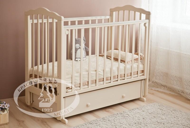 Детская кроватка Можга (Красная Звезда) Элина С-669 (маятник поперечный)