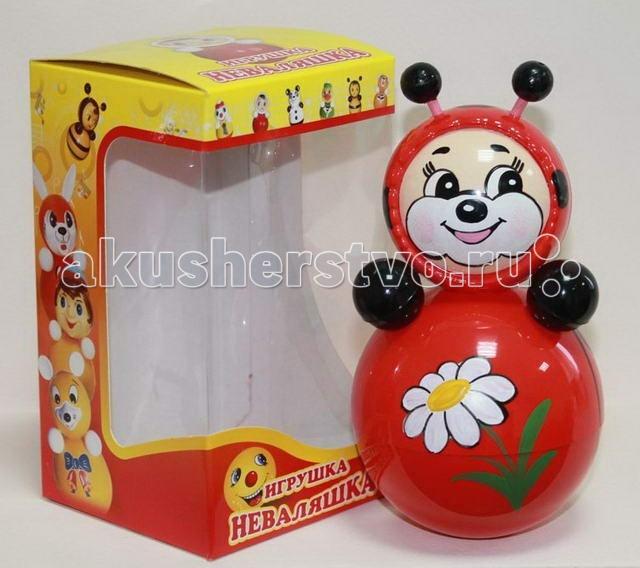 Развивающая игрушка Russia Неваляшка 16.5 смНеваляшка 16.5 смRussia Неваляшка - одна из самых любимых игрушек малышей. Она совмещает в себе погремушку и устройство, благодаря которому неваляшка никогда не упадет.   Яркие цвета и удобная форма игрушки не оставят малыша равнодушным. Кроме того, неваляшка абсолютно безопасна даже для маленьких детей.   При раскачивании издает звук. Неваляшка - игрушка для развития у ребенка цветового, звукового и тактильного восприятия.  Она изготовлена из высококачественного российского пластика по строгим гигиеническим и санитарным нормам.   Высота неваляшки 16.5 см.   Неваляшка продается в цветной картонной подарочной упаковке.<br>