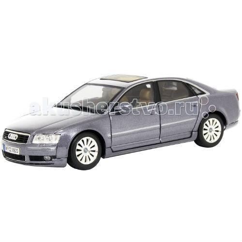 MotorMax Машинка коллекционная Audi A8 1:18Машинка коллекционная Audi A8 1:18MotorMax Машинка коллекционная Audi A8 1:18 - классическая модель сделанная в масштабе 1:18, станет отличным дополнением к вашей личной коллекции игрушечных машин. Созданный из литого метала, автомобиль крепок, реалистичен и вызывает полный восторг!   Особое внимание к мельчайшим деталям делает модель уникальной: ведь даже внутренний салон идентичен салону настоящей Audi A8! В процессе игры, юный водитель может открывать двери и сажать внутрь пассажиров, крутить руль и наблюдать за поворотами колес, открывать багажник и капот.   Играя с машинкой, ребенок развивает мелкую моторику и воображение. Можно представить и разыграть ситуацию с поломкой, ведь открыв капот, вы обнаружите имитацию двигательного отсека! А резиновые шины отлично катятся по ровной поверхности.   Motormax, базирующийся в Гонконге, — известный бренд, игрушки которого действительно не стыдно иметь в личной коллекции.<br>