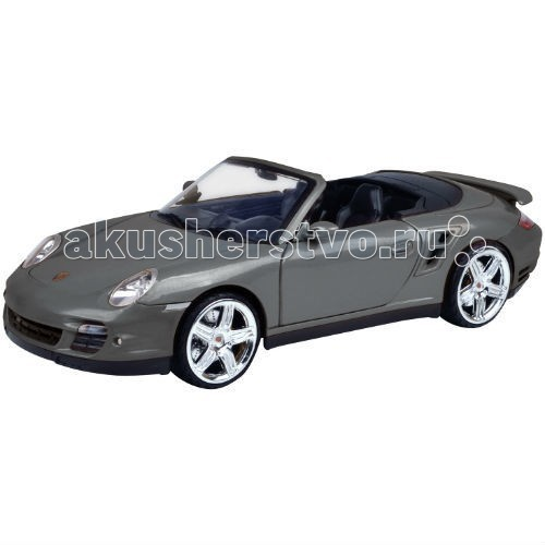 ФОТО motormax Машинка коллекционная porsche 911 turbo cabriolet 1:18