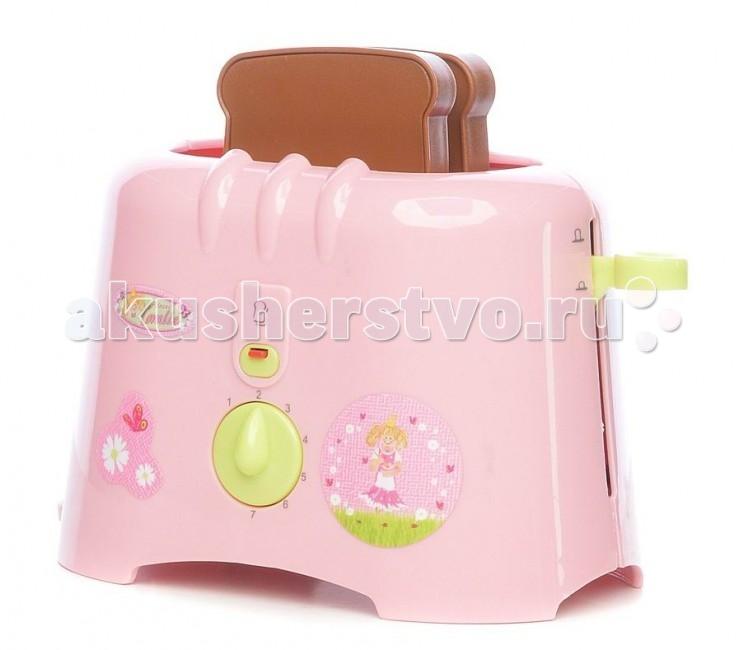 Klein Тостер CoralieТостер CoralieДетский тостер Coralie от немецкого производителя игрушек Klein - яркая игрушка, которая разнообразит сюжетно-ролевые игры вашей девочки на ее игрушечной кухне.  Игрушка выполнена в виде тостера яркого розового цвета с двумя пластиковыми кусочками хлеба, входящими в комплект. Вставьте кусочки хлеба в тостер и, когда время закончится, раздастся звонок и тосты сами выпрыгнут из тостера.  Благодаря этому замечательному тостеру ваша малышка не только будет помогать маме с приготовлением в игровой форме, но и в дальнейшем приучиться к порядку и в будущем легко освоит взрослую технику.  История немецкой компании Theo Klein, известной во всем мире благодаря высокому качеству игрушек и их образовательной ценности, не похожа на историю других игрушечных компаний. Ведь Тео Кляйн и его жена Мария основали компанию в 1949 году как семейную фабрику по производству щеток и метел.  Началом истории успеха компании Klein стал выпуск в 1956 году метлы с яркими пластиковими щетинками, предназначенной для детей. А в 1959 году компания Klein уже впервые принимала участие в Нюрнбергской ярмарке игрушек, выставляя лишь три продукта: детскую метлу, щетку и металлическую лопатку. Они имели невероятный успех и позиционировались как игрушки, способствующие освоению детьми социальных правил и ролей в данном случае – помощников своих родителей. Вскоре компания окончательно изменила свой курс и начала заниматься производством игрушек.  Быстрая экспансия компании Theo Klein GmbH сопровождалась разработкой большого количества новых продуктов и непрерывным расширением существующего ассортимента. На сегодняшний день компания Klein, которую возглавляют сыновья Тео и Марии – Клаус-Дитер и Мартин, является крупнейшим в Европе производителем игрушек, имеющих обучающую ценность, и лидером во многих сегментах отрасли. Среди партнеров компании Theo Klein множество брендов с мировым именем: BOSCH, MIELE, BRAUN, VILEDA, WMF. Производственные мощности Theo Klein расположены в