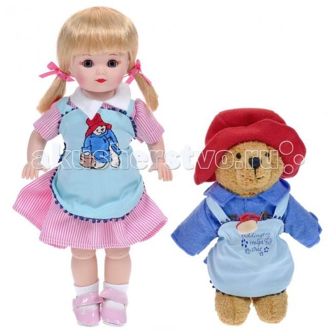 Madame Alexander Кукла Мэри и медвежонок Паддингтон 20 смКукла Мэри и медвежонок Паддингтон 20 смКукла Madame Alexander Мэри и медвежонок Паддингтон станет прекрасным украшением любой коллекции.   Кукла Мэри с серыми глазками и светлыми волосами одета в бело-розовое полосатое платье с белым воротничком, поверх платья - нежно-голубой передник с вышитым мишкой. На ее ножках - белые носочки и лаковые розовые туфельки без каблучка на ремешках.   В комплект с куклой входит ее верный друг Паддингтон - забавный медвежонок в красной шапочке, синем пальто на деревянных пуговицах и голубом фартучке с вышитой надписью Паддингтон помогает друзьям.   Кукла 20 см. Выполнена из высококачественного винила. Глазки из стекла, закрываются. Ручки и ножки двигаются. Тончайшая проработка черт лица. Многослойная одежда, разработанная известными дизайнерами, выполнена из качественных натуральных тканей.   Более 90 лет назад Беатрис Александер Берман, дочь русского эмигранта, преобразовала мастерскую своего отца и основала компанию Madamе Alexander по производству кукол. Сегодня бренд Мадам Александер - всемирно известная марка, под которой создаются игровые и коллекционные виниловые куклы, достойные восхищения.<br>