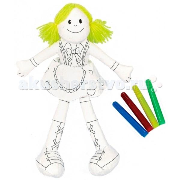 Мир детства Игрушка-раскраска ДевочкаИгрушка-раскраска ДевочкаМир Детства Игрушка-раскраска Девочка для детей от 3 лет.  Объемную игрушку можно раскрасить, постирать и раскрасить заново!   Развивает мелкую моторику, цветовое восприятие, творческие способности.  Фломастеры входят в комплект.<br>