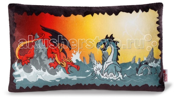 Nici Подушка Битва драконов 43х25 см