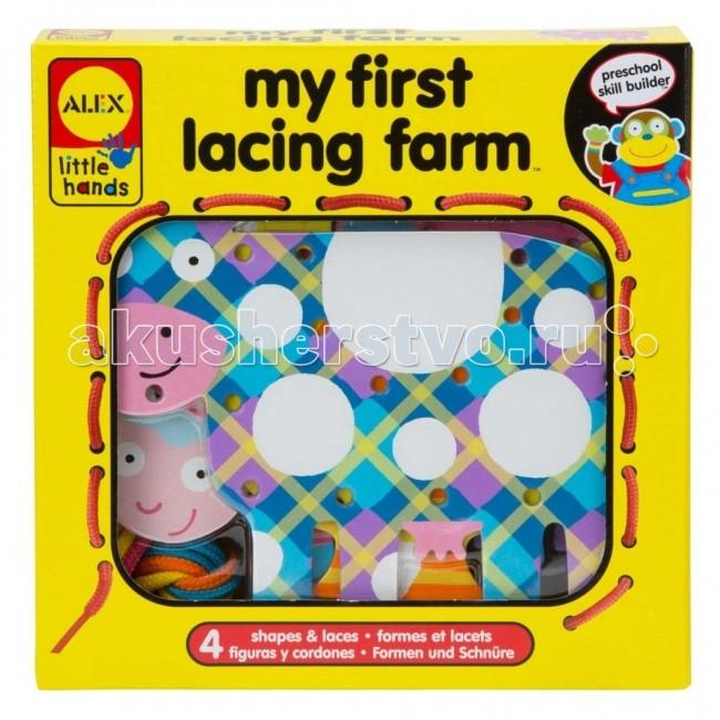 Развивающая игрушка Alex Шнуровка Веселая ферма