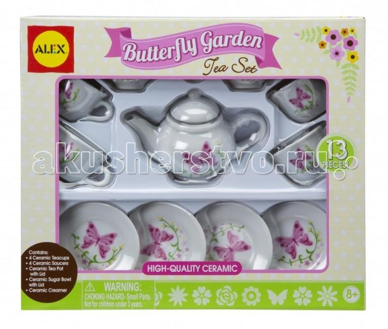 Alex Чайный сервиз Бабочки в саду 13 предметов Чайный сервиз Бабочки в саду 13 предметов 709BR