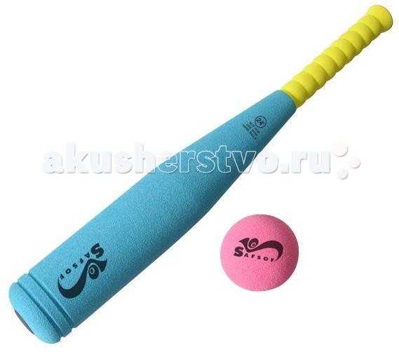 SafSof  Бита бейсбольная 45 смБита бейсбольная 45 смБейсбольная бита для активного отдыха. Игра с мячом и битой физически развивает ребенка, улучшает координацию движений и меткость.   Яркий дизайн не оставит равнодушным вашего малыша. Кроме того, бейсбольная бита исключает получение травм во время игры, потому как изготовлена из вспененной резины.  В наборе: бейсбольная бита длиной 45 см и мяч.  Цвет в ассортименте.  Легко моется водой с использованием мягких моющих средств.  SafSof – детские спортивные игрушки и игры из оригинальной экологически чистой вспененной резины для активного отдыха на улице и дома. Большинство спортивных игрушек созданы для поддержания спортивного интереса у детей, развития физических навыков и командного духа. Игрушки компании SafSof также способствуют укреплению семейных отношений, путем вовлечения родителей и детей в совместные игры.<br>