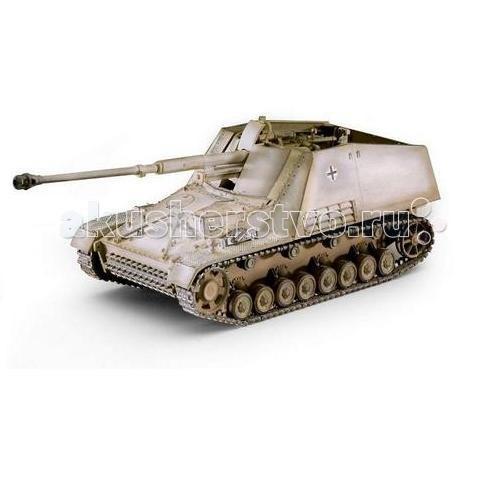 Revell Самоходная артилерийская установка Sd.Kfz. 164 НасхорнСамоходная артилерийская установка Sd.Kfz. 164 НасхорнRevell Самоходная артилерийская установка Sd.Kfz. 164 Насхорн - сборная модель немецкой САУ Sd.Kfz. 164 Насхорн времен Второй мировой войны.   Данная самоходная артиллеристская установка создавалась для борьбы с тяжелыми советскими танками. Всего с весны 1943 года было выпущено чуть менее 500 экземпляров.   К существенным недостаткам машины относили ее бронирование, которое защищало экипаж только от стрелкового оружия. Сильной же стороной являлось орудие – 88-мм пушка, которая могла успешно поражать любой из танков, состоявших на вооружении союзников.  Основные характеристики: масштаб: 1:72 количество деталей: 184 длина модели: 118 мм уровень сложности: 5.  Клей и краски в комплект не входят.<br>
