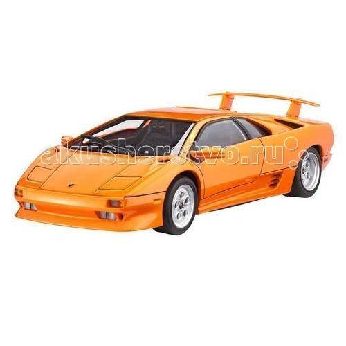 Revell Автомобиль Lamborghini Diablo VTАвтомобиль Lamborghini Diablo VTRevell Автомобиль Lamborghini Diablo VT - намекает покупателю о том, что ему ожидать от его нового спорткара. В 1990 году Lamborghini представил Diablo в то время самый быстрый серийный автомобиль в мире. Он стал мощным преемником Countach, который производился в течение 16 лет. В 1993 году Diablo VT поступил в продажу по цене в 500 тысяч немецких марок. В период между 1993 и 1999 было продано четыреста Diablo VT.  Возможно, кто-то осмелится развить максимальную скорость этого болида в 328 км / ч  Основные характеристики: количество деталей: 81 длина модели: 186 мм уровень сложности: 4.  ВНИМАНИЕ: Клей и краски в комплект не входят.<br>