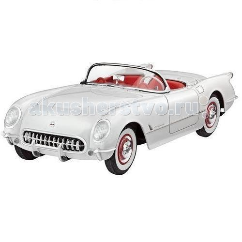 Revell Автомобиль 53 Corvette RoadsterАвтомобиль 53 Corvette RoadsterRevell Автомобиль 53 Corvette Roadster - сборная модель 53 Corvette Roadster выполнена в традиционном для автомобилей масштабе 1:24. Прототип данной модели был создан в начале 50-х годов 20 века. Тогдашний ведущий дизайнер компании General Motors решил создать новый спорткар, который сможет конкурировать с аналогичными автомобилями из Европы. Результат работы американского концерна был показан на выставке в 1953 году. Автомобиль сразу пришелся по душе публике, поэтому серийное производство началось в конце того же года.   53 Corvette Roadster от Revell может похвастаться: аутентичным шестицилиндровым двигателем; проработанным интерьером с копией приборной панели; открывающимся капотом кузовом, с проработкой мелких деталей.  Модель выполнена из пластика, поэтому для ее сборки вам потребуется специальный клей. Для покраски рекомендуется использовать акриловые или эмалевые краски Revell. Хромированные детали, которые присутствуют в наборе, рекомендуется зачищать от краски в местах склеивания. Прозрачные пластиковые детали рекомендуется клеить специальным клеем Contacta Clear.   Внимание! Все вышеперечисленные расходные материалы не входят в набор и приобретаются отдельно.  Сборные модели от компании Revell помогут ребенку развить у ребенка творческие способности, аккуратность, усидчивость и мелкую моторику рук.   Основные характеристики: количество деталей: 91 длина модели: 177 мм уровень сложности: 4.<br>