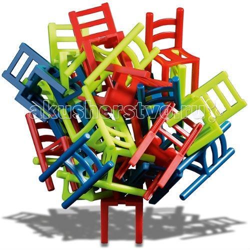 Trefl Игра MistakosИгра MistakosРазвивающая игрушка Trefl Игра Mistakos - это необычное развлечение, тренирующее пространственное мышление, логику, стратегические способности ребенка. А, кроме того, это невероятно весело и подходит для игры в любой компании!!   В новой игре от Trefl вы найдете 24 разноцветных ярких стула (8 зеленых, 8 синих и 8 красных). Их необходимо водружать друг на друга. На столе может стоять только один стул, все остальные нужно размещать так, чтобы их ножки не касались стола. Поначалу игра кажется очень легкой, пока противник не начинает делать ходы, которые осложняют вам жизнь. Стоит сделать неверный ход, как башня из стульев обвалится. Вы забираете себе все упавшие во время вашего хода стулья (еще один вариант игры предусматривает начисление штрафных очков по количеству упавших стульев). Победителем становится тот, кто первым избавился от своей мебели (либо набравший минимальное количество штрафных очков по итогов нескольких раундов).   В коробке: 24 стула, инструкция к игре.  Количество игроков: 1-3  Продолжительность партии: 10 минут<br>