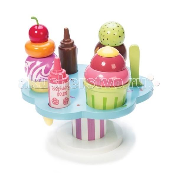 Деревянная игрушка LeToyVan Десерт-мороженое на подставке
