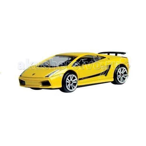 MotorMax Игровой набор из двух машинок Mercedes-Benz SLR и Lamborghini Gallardo черная и желтая 1:64