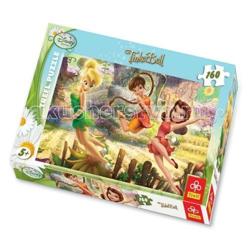 Trefl Пазл для девочек Игра Фей - 160 деталейПазл для девочек Игра Фей - 160 деталейTrefl Пазл для девочек Игра Фей - 160 деталей - очаровательные феи – Динь-Динь и ее подружки резвятся в волшебном лесу, полном удивительных цветов и солнечного света. Этот пазл нравится всем девочкам старше 5 лет, ведь собирать мозаику с изображением любимых героинь – так увлекательно!   Игра выпущена польским брендом Trefl, известным своими пазлами во всем мире. Дело в том, что это пазлы высочайшего качества, изготавливающиеся из каландрированной бумаги, что позволяет приобрести им невероятную гладкость и яркие насыщенные цвета, которые не стираются со временем. Кроме того, это экологически чистая продукция, не способная нанести вреда ребенку и окружающей среде.  Пазл Феи веселятся выполнен по официальной лицензии студии Disney.   Количество деталей: 160 штук  Размер сложенного изображения: 41 х 28<br>