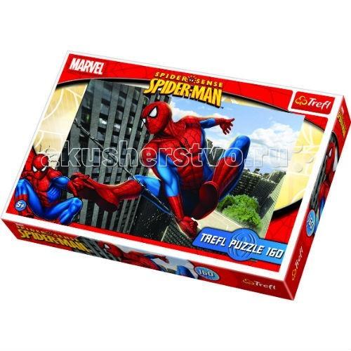 Trefl Небоскребы 160 деталейНебоскребы 160 деталейTrefl Небоскребы 160 деталей - это великолепная картинка из 160 деталей, от которой будут в восторге все мальчишки старше 5 лет, которым нравится Человек-паук.   Популярный герой изображен здесь в момент, когда он уже выстрелил своей паутиной и теперь подтягивается на ней на вершину высотного здания. Популярный герой изображен на яркой и красочной картинке крупным планом с отличной прорисовкой, так что можно рассмотреть детали его одежды и даже мускулы на его торсе, руках и шее.   Пазл выполнен по официальной лицензии Marvel.   Игра выпущена польским брендом Trefl, известным своими пазлами во всем мире. Дело в том, что это пазлы высочайшего качества, изготавливающиеся из каландрированной бумаги, что позволяет приобрести им невероятную гладкость и яркие насыщенные цвета, которые не стираются со временем. Кроме того, это экологически чистая продукция, не способная нанести вреда ребенку и окружающей среде.  Количество деталей: 160 штук  Размер сложенного изображения: 41 х 28<br>