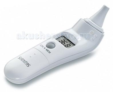 Термометр Sanitas SFT21SFT21Sanitas SFT21 - это современный ушной термометр для измерения температуры тела. Он обладает звуковым сопровождением и большим жидкокристаллическим дисплеем с крупными цифрами.   Характеристики: Способ измерения: ушной Водонепроницаемый измерительный наконечник Память: 9 ячеек Звуковой сигнал Автоматическое отключение Чехол для хранения в комплекте Точность: +/- 0.2 С<br>