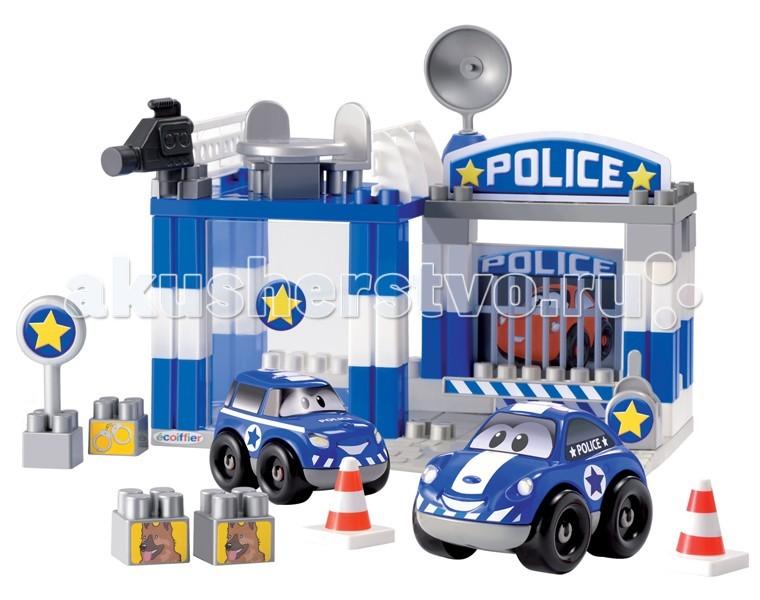 Конструктор Ecoiffier Полицейский участок, 57 предметовПолицейский участок, 57 предметовКонструктор Ecoiffier Полицейский участок понравится любому мальчишке, ведь он сможет построить настоящий полицейский участок с тюрьмой, из которой сбегает опасный преступник. Преступник быстро скрывается, но полиция не сидит на месте и машины устремляются в погоню.    В комплекте:    2 машинки;  оснащенный оружием полицейский участок;  дорожные конусы;  дополнительные детали конструктора с изображениями собак;  детали конструктора с рисунком наручников и др.   Размер - 29,5х21х24,5 см<br>