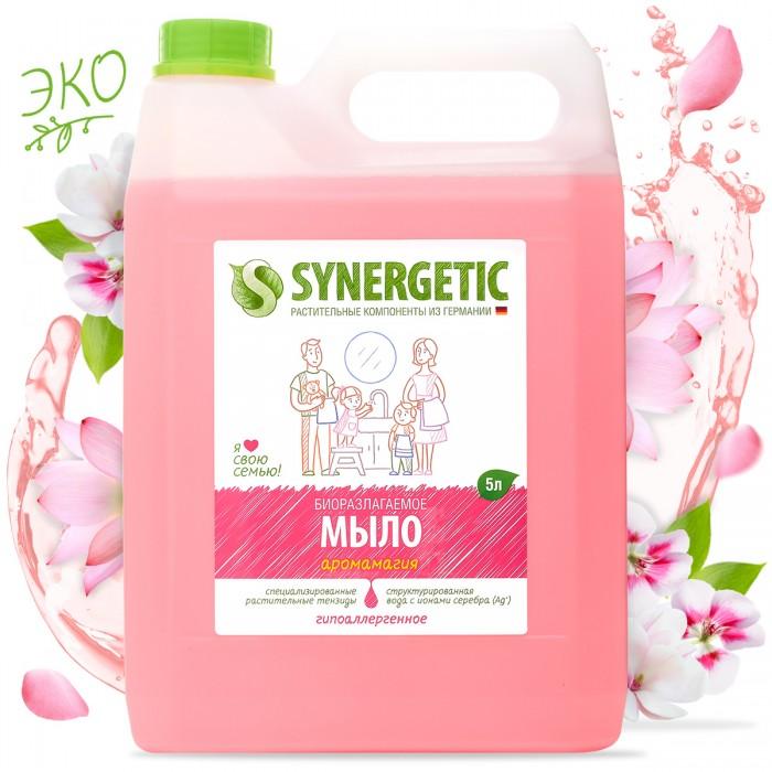 Synergetic Мыло жидкое 5 лМыло жидкое 5 лSynergetic Мыло жидкое биоразлагаемое.  Особенности: Концентрированное жидкое мыло подходит для бережного очищения кожи от любых загрязнений,обладает приятным ароматом.  Особая формула интенсивно питает и защищает Вашу кожу.  За счёт полностью натурального состава обладает 100% смываемостью, безопасно для детей и животных, подходит для интимной гигиены.  Подходит для использования в качестве геля для душа.  Эффективно устраняет запахи и загрязнения даже в ледяной воде.<br>