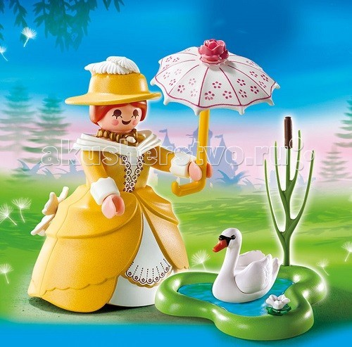 Конструктор Playmobil Дополнение: Принцесса с прудом