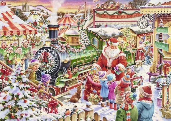 Ravensburger Пазл Рождественский экспресс 1000 элементовПазл Рождественский экспресс 1000 элементовПазл Ravensburger Рождественский экспресс 1000 элементов: от частицы к частице – всё высшее качество!  Изображение состоит из множества ярких и разноцветных элементов, что позволит ребенку развить цветовосприятие, воображение и логическое мышление. Готовую картину можно склеить с помощью специального клея и украсить ей детскую комнату.  Отсутствие двух одинаковых деталей обеспечено использованием вручную изготовленного инструментария Частицы идеально соединяются Матовая поверхность исключает неприятные отблески Прочные детали не ломаются Изготовлено из экологического сырья  Количество деталей: 1000 Размер картинки: 70 x 50 см Размер картинки: 37 х 6 х 27 см Материал: картон и бумага, части устойчивы к сгибанию.<br>