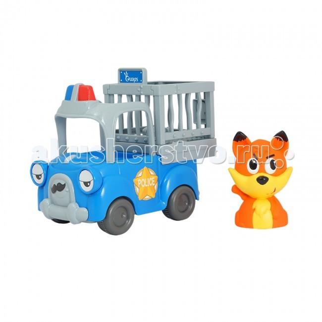 Ouaps Развивающая игрушка Полицейская машина БаниРазвивающая игрушка Полицейская машина БаниЯркая и красочная машинка со смешным выражением лица и хитрый маленький лисенок, которого нужно за его шалости, капризы и шутки поймать, помогут крохе интересно провести время.  Игры не только поднимут настроение ребенку, но и помогут развить координацию движений, мелкую моторику, воображение, навыки общения.  Игрушка создана из качественного и безопасного материала.<br>