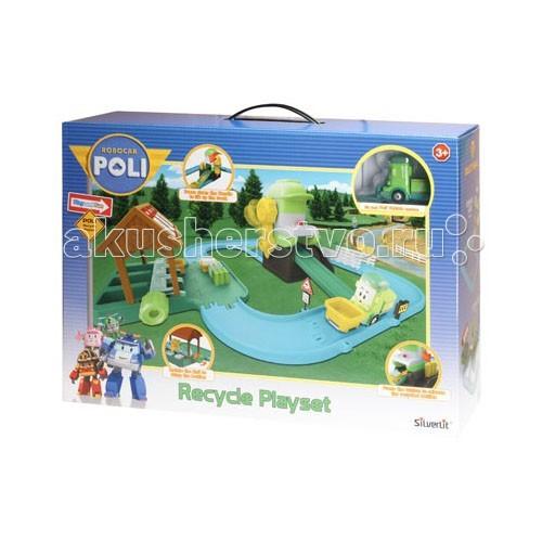 Robocar Poli Перерабатывающая станцияПерерабатывающая станцияДобрый и заботливый чистюля Клини поможет навести порядок, рассортировать мусор для его дальнейшей переработки. Сюжетно-ролевые игры с использованием игровых наборов от компании Silverlit способствуют развитию воображения и пространственного мышления, мелкой моторики рук вашего ребенка, формируют грамотную речь.  Функциональность игрушки: - машинка Клини двигается по дорожкам, собирает ящики с мусором и доставляет их к специальному перерабатывающему устройству. - на станции отходы разделяются на пластик, стекло и бумагу и перерабатываются в полезные предметы. - цветовое решение игрового набора разнообразно: голубой, синий, желтый, зеленый, белый.  В игровой набор входят:  - здание перерабатывающей станции - машинка Клини - дополнительные элементы: контейнеры, различные блоки отходов.  Игрушка выполнена из высококачественного пластика. Детали и края аккуратно обработаны.   На основе специальных тестов товарам присваивается значок CE, широко известный всем покупателям знак качества товара соответственно европейским стандартам.  Продукция сертифицирована, экологически безопасна для ребенка, использованные красители не токсичны и гипоаллергенны.<br>