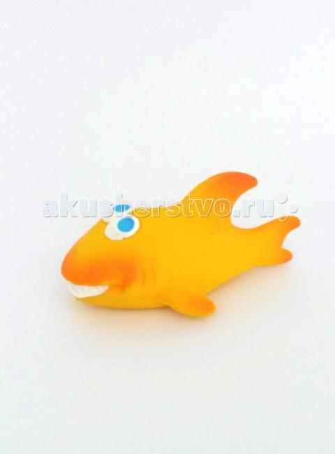 Lanco Латексная игрушка Акула желтая 1186