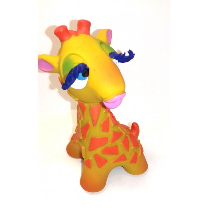 Lanco Латексная игрушка Жираф-девочка 1206Латексная игрушка Жираф-девочка 1206Lanco Латексная игрушка Жираф-девочка 1206 для детей от трех месяцев.  Латексные игрушки Lanco удобно и комфортно держать в детской руке. С ними можно играть в ванной, в кроватке, в автомобиле, во время путешествий в поезде, на самолете, на пароходе.  Эти игрушки способствуют развитию воображения ребенка, способствуют развитию мелкой моторики.  Чем замечательны латексные игрушки Lanco? - уникальность - эксклюзивное качество - отсутствие аналогов.  Игрушки производятся из безвредного, экологически чистого 100% натурального сырья – латекса – без химических и минеральных добавок, этот материал нелипкий, приятный и мягкий на ощупь, для него характерно отсутствие запаха.  Особенности игрушек Lanco: Латексные игрушки Lanco прошли сертификацию как в Европе, так и в России Играя с латексными игрушками Lanco невозможно травмироваться, невозможно откусить, оторвать детали от них При растягивании любая латексная игрушка Lanco увеличивается до 7 раз, возвращаясь в исходное положение, не деформируясь. В производстве этих игрушек используются натуральные пищевые красители, которые наносятся на латексные игрушки Lanco вручную. Латексные игрушки Lanco привлекают яркостью красок, и цветовая гамма разработана совместно с психологами.  Материал: - производство из безвредного, экологически чистого 100% натурального сырья – латекса – без химических и минеральных добавок - нелипкий - приятный и мягкий на ощупь - отсутствие запаха.  Использование: - латексные игрушки Lanco легко моются в теплой воде с нейтральным мылом, при этом красители не линяют - латексные игрушки Lanco удобно и комфортно держать в детской руке - с латексными игрушками Lanco можно играть в ванной, в кроватке, в автомобиле, во время путешествий в поезде, на самолете, на пароходе.  Красители: натуральные пищевые красители, которые наносятся на латексные игрушки Lanco вручную - устойчивость красителей к воздействию слюны - красители, используем
