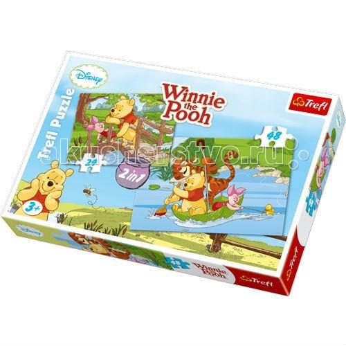Trefl Детский пазл 2 в 1 Играем в воде 24 + 48 деталейДетский пазл 2 в 1 Играем в воде 24 + 48 деталейTrefl Детский пазл 2 в 1 Играем в воде 24 + 48 деталей - это две прекрасных мозаики с изображением Винни-Пуха и его друзей Пятачка и Тигру, которые будут приятным занятием для ребенка.   Ведь все малыши любят мультсериалы Дисней! В этом наборе вы найдете два пазла: на 24 и на 48 элементов.   Игрушка изготовлена польским брендом Trefl из экологически чистых материалов. Специальная бумага, из которой сделаны пазлы, исключает отражение света. Таким образом, мозаики можно собирать при любом освещении.  Размеры собранных картинок: 22,7 x 16,7 см 33 x 22 см.<br>