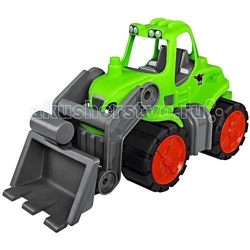 BIG Трактор Power WorkerТрактор Power WorkerТрактор BIG Power Worker станет отличным подарком для любого мальчика.  Он оснащен съемным подвижным ковшом, большой кабиной и огромными колесами.   Транспортные средства подходит как для игр в детской комнате, так и под открытым небом.  Размер игрушки: 46 x 20 x 23 см<br>