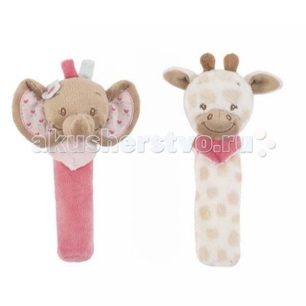 Погремушка Nattou Cri-Cris Charlotte &amp; RoseCri-Cris Charlotte &amp; RoseМаленькие забавные мягкие игрушки для малышей в ассортименте: Жираф или Слоник.  Характеристики:  мягкая игрушка для малышей очень нежный и приятный на ощупь материал  внутри пищалка, срабатывает при сжимании игрушки способствуют развитию мелкой моторики, зрительных и слуховых рефлексов размер игрушки: 20 см уход: стирка при температуре 30°С  Внимание! Цена указана за одну игрушку.<br>