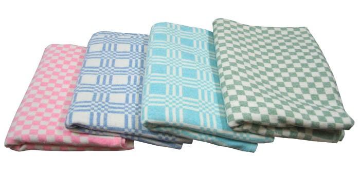 Одеяло Ермолино детское байковое оверлок 100х140 см