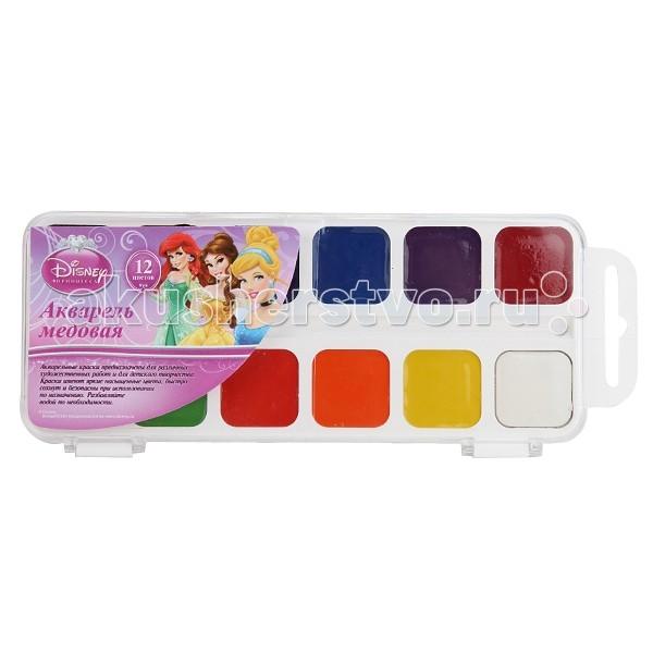 Играем вместе Медовая акварель Принцессы Диснея 12 цветов
