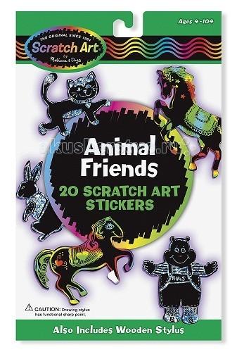 Melissa & Doug Набор для творчества Scrach Art Набор стикеров животные Набор для творчества Scrach Art Набор стикеров животные 5827