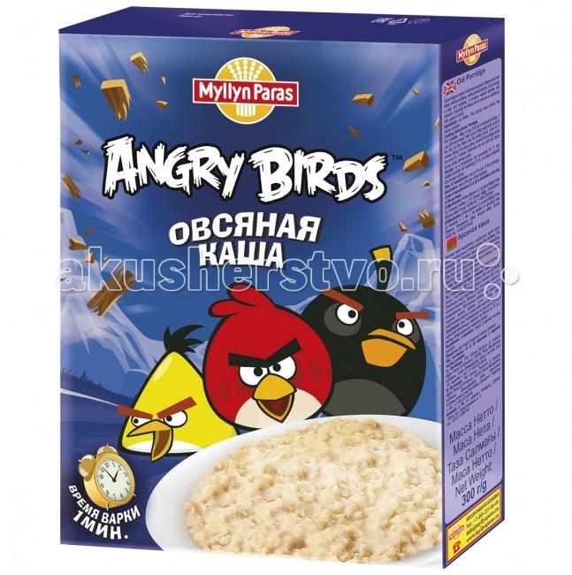 Myllyn Paras Безмолочная Angry Birds Каша овсяная 300 г