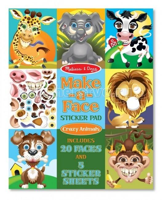 Melissa &amp; Doug Набор стикеров животныеНабор стикеров животныеMelissa & Doug Набор стикеров животные - рисуйте и получайте свои оригинальные картины!   В наборе: 20 контуров из плотного картона с изображением животных, которые нужно дорисовать с помощью стикеров, а также 170 стикеров.  Неисчерпаемый источник для творчества!<br>
