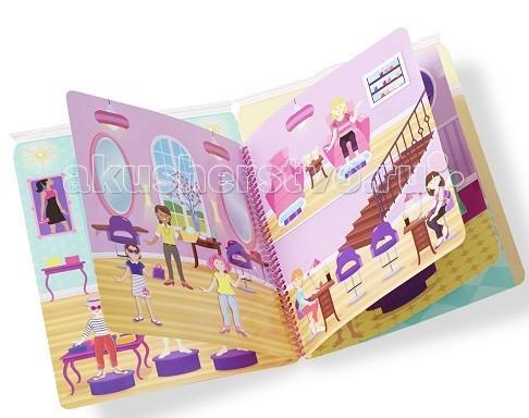 Melissa &amp; Doug Набор делюкс со стикерами-день гламураНабор делюкс со стикерами-день гламураMelissa & Doug Набор делюкс со стикерами-день гламура - дайте волю воображению Вашей малышке, купив ей этот набор для творчества.  196 наклейк чтобы заполнить 10 многоразовых сцен, включая модный бутик, обувной салон, спа, макияж и многое другое.   Просто откройте книгу, чтобы быть частью модного приключения!<br>