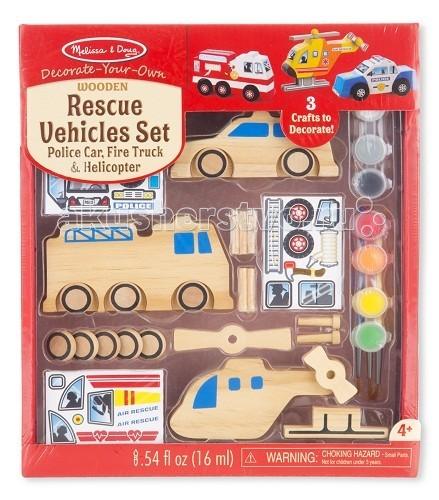 Купить Наборы для творчества Набор автомобилей - спасатели  Наборы для творчества Melissa & Doug
