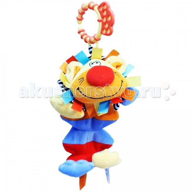 Подвесная игрушка Roxy Лев Ру-ру со звукомЛев Ру-ру со звукомЛев Ру-ру со звуком - развивающая игрушка с вибрирующим механизмом.    Особенности: Яркие образы и цвета развивают визуальное восприятие окружающего мира ребенка. Прикосновения и звук: игрушки со звуком помогают ребенку развивать слух. Навыки мелкой моторики: помогают ребенку развивать ручки и пальчики, совершать точные движения, хватать и управлять объектами. Издает забавный звук при нажатии на туловище.  Удобное крепление.    При растягивании игрушки издается забавный звук в виде смеха.  Размер - 24 см.<br>
